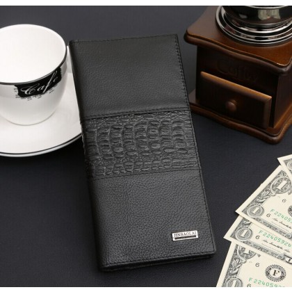 Brand man wallet men crack pattern wallet genuine leather mobile pouch designs