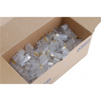 100pcs Modular Plugs Connector for Networking (Transparent)