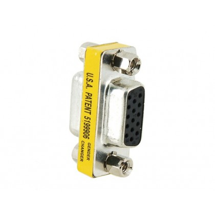 15pin Gender Changer Adapter Female to Female VGA/SVGA Cable Extender Connector