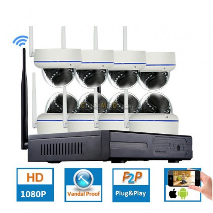 8CH 1080P Wireless CCTV System Waterproof WIFI IP Camera WIFI Security Video Surveillance Kits