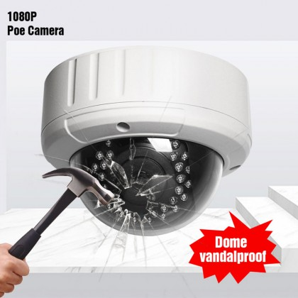 POE Full-HD 1080P IP Camera Network Onvif P2P Outdoor Security IR Night Vision Alarm System Metal Vandal-proof