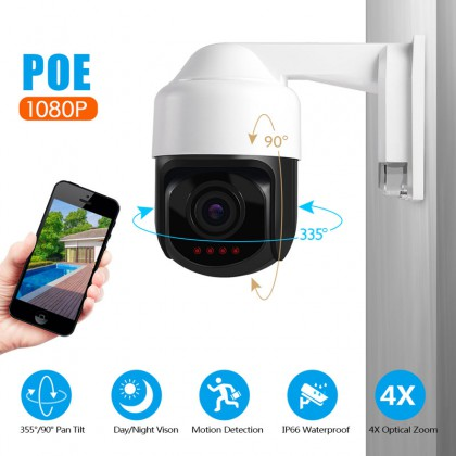 1080P PTZ IP Camera POE 2MP Mini 3 inch Dome Camera HD Infrared Waterproof Camera