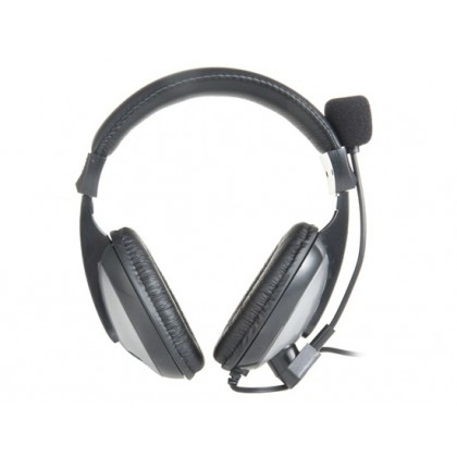 KM-580 3.5mm Jack On-ear Style Stereo Headphone with Microphone for PC, MP3 Player, MP4 Player (Black)