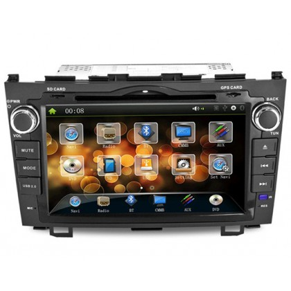"""J8615M 8"""" LCD Double Din Car DVD Player with Built-in GPS, Bluetooth"""