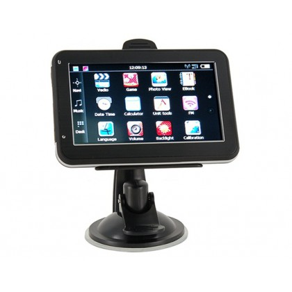 "Car Electronics 4.3"" Touch Screen GPS Navigator and Multimedia System with eBook Reader+ Audio+ Video+ Games+ Photos(Black)"