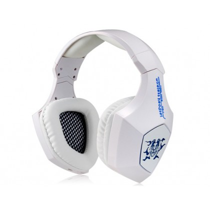 Heavy Bass 7.1-Channel Wireless Bluetooth Headphone with Microphone Ecouteur (White)