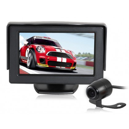 "4.3"" TFT Screen Car Parking Monitor with Night Vision Camera Set (Black)"