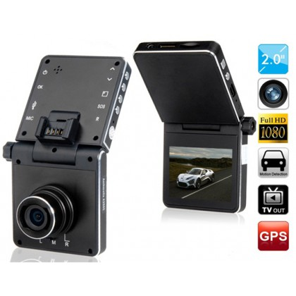 "GS4000 2.0"" TFT Screen 1080P HD Vehicle Black Box DVR with GPS Track & G-sensor"