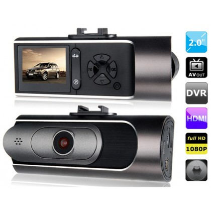 "AT600 2.0"" LED Screen Vehicle Black Box DVR Recorder with Parking Monitor, HDMI Output, TV-Out & G-Sensor"
