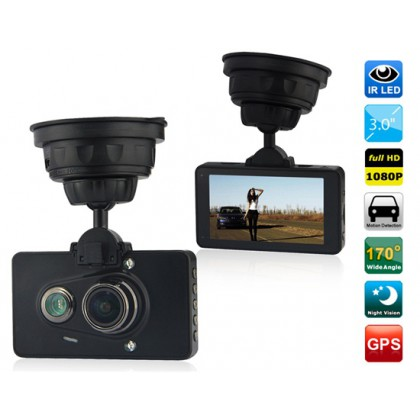 "3.0"" TFT Screen Ambarella 1080P Full HD Vehicle Black Box DVR with 4X Digital Zoom (Black)"