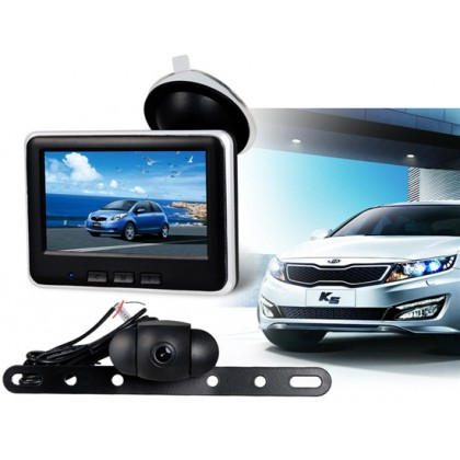 "CR006 4.3"" Colored 2.4G Wireless Car Rearview Camera with Infrared Night Vision (Black)"