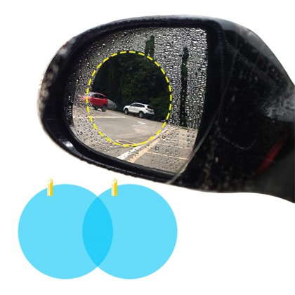 Car Rearview Mirror Anti-Fog Membrane Waterproof Rainproof Car Mirror Window Protective