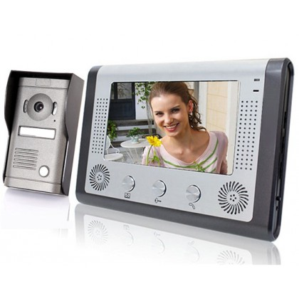 "7"" TFT Color Display Wired Video Door Phone Doorbell Intercom System-SY801MF11"