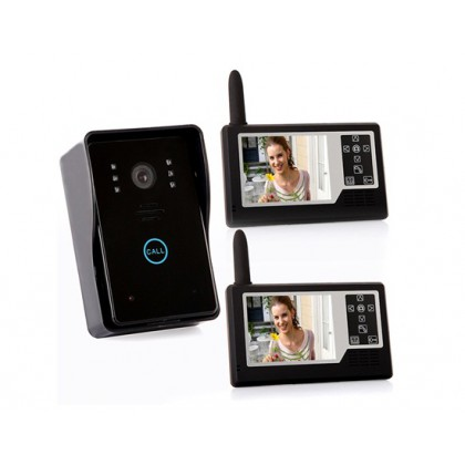 "SY359MJ12 3.5"" TFT Color Display 1 in 2 Wireless Video Intercom Door Phone Doorbell"