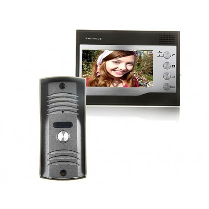 ZDL-22N+ZDL-027C Night Visual Colour Video Door Phone Access Control System with 7inch TFT LCD Monitor