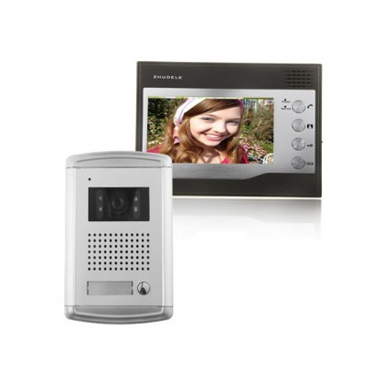 ZDL-226+ZDL-027C Wired Night Visual Colour Video Doorphone with 7inch TFT LCD Monitor Access Control System