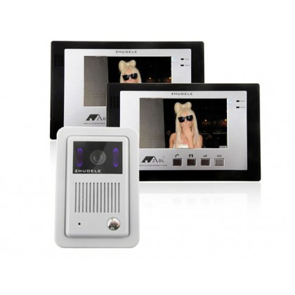 "ZDL-339M+ZDL-6700B 7"" TFT LCD Night Vision Color Video Door Phone Access Control System"