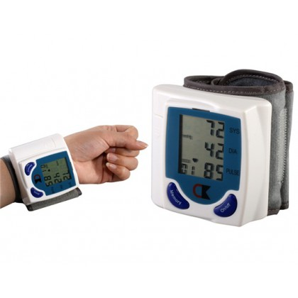 HotItem Compact Digital Wrist Blood Pressure Monitor (White)