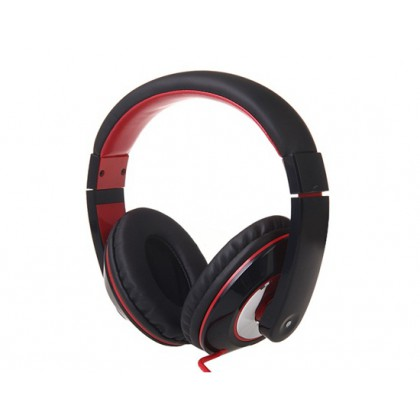 Bass Stereo Headset with Omnidirectional Microphone (Black)