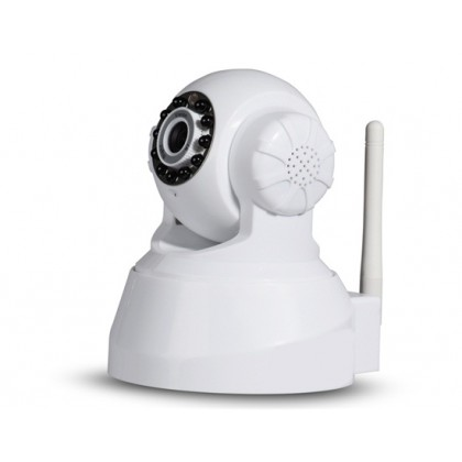 "QQZM IPA01-308MNSP 1/5"" 640x480 CMOS Sensor Robot Shaped IP Network Camera with Wi-Fi, H.264 Video Compression"