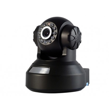 "QQZM IPA01-725NSP 1/4"" 640x480 CMOS Sensor Robot Shaped IP Network Camera with Wi-Fi, Dual IR-cut Filter, H.264 Video Compression"