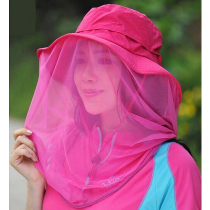 Head Face Protector Hat  Outdoor  Mosquito Bug Insect Bee Resistance Net Mesh Cap for women
