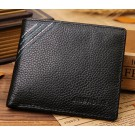 famous brand genuine leather mens wallet with coin pocket for billeteras masculinas factory outlet