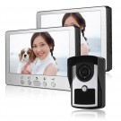 2 Indoor monitor 7 inch TFT LCD Night Vision Video Door Phone LCD IR Key Panel Doorbell