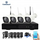 4pcs H.264 4CH 960P NVR Weatherproof Wireless IP Security CCTV Camera Video Surveillance System