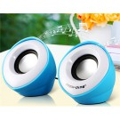 Popu•Pine M1 Horn Design 3.5mm Plug Mini Speaker with USB Port & Volume Control (Blue)