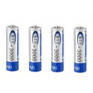 4pcs BTY3000 Rechargeable AA NI-MH Battery (Blue)