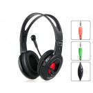 OVLENG S998 3.5 mm On-ear Headphones with Microphone (Black)