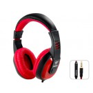 3.5mm Plug Multi-functional Stereo On-ear Headset Headphones with Microphone for Apple Devices (Red)