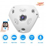 C61S IP Camera 3MP Fish Eye Panoramic 1080P WIFI CCTV 3D VR Video IP Cam with 64G TF-Card Audio Remote Home Monitoring