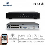 NVR POE 8CH IP NVR HD 1080P Network Video Recorder Security Camera System Cmdsmart