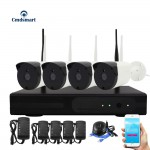 4CH Wireless NVR Kits Waterproof IR-CUT IP Camera 720P Security System Surveillance