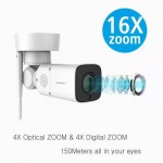 HD Outdoor Bullet Wifi Wireless PTZ IP Network Camera IP66 2MP 1080P 16X Zoom