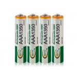 BTY 4pcs 1.2V 1350mAh Rechargeable AAA Battery