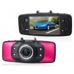"HD Car Camera Recorder  DVR with  2.7"" TFT 1080P GPS System & Tri-Axial G-Sensor (Red)"