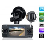 "F80 2.7"" TFT Screen 720P HD Tri-lens Vehicle Black Box DVR with PIP Video Recording & G-sensor (Black)"
