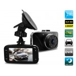 "2.7"" TFT Screen Novatek 96650 170-degree Single Lens HD Vehicle Black Box DVR with IR Night Vision (Black)"