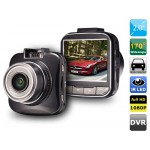 FULL HD 1080P Vehicle Black Box with Motion Detection, Loop Recording, 4X Digital Zoom & G-sensor (Black)