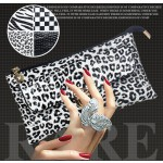 Women's PU Leather Wallet Cosmetic Pouch Lady Purse