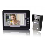 "SY810MF11 7"" TFT Touch Screen Color Display Video Door Phone Doorbell (Black)"