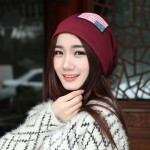 Fashion Knitted Neon Women Beanie Girls Autumn Casual Cap Women's Warm Winter Hats Unisex Men Warm Winter Hats(Red)