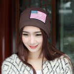 Women Beanie Girls Autumn Casual Cap Women's Warm Winter Hats(Coffee)