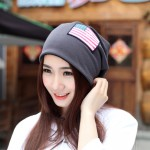 Women Beanie Girls Autumn Casual Cap Women's Warm Winter Hats(Gray)