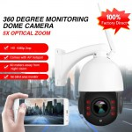 1080P 5X Zoom PTZ IP Camera 60M Night Vision Wifi Long Range Camera With 64g TF Card