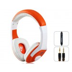 VYKON MQ44 Superb 3.5 mm On-ear Headphones with Microphone & 1.2 m Cable (Orange)