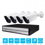 4CH 1080P H.265 POE NVR CCTV System Outdoor IP66 IP Camera P2P Onvif Motion Detect APP View Security Surveillance Kit